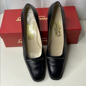 Salvatore Ferragamo Cosenza Leather Shoes Heels